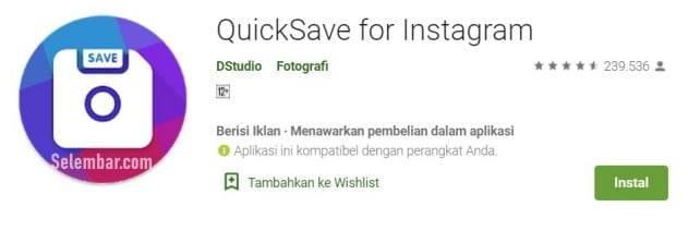 Aplikasi Download Video dan Foto Instagram