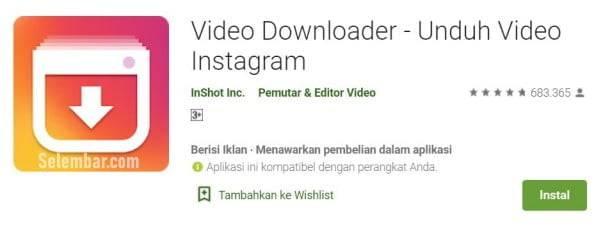 Video downloader InShot