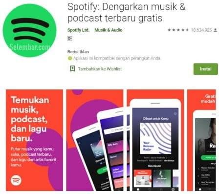 Spotify : Dengarkan Musik & Podcast Terbaru gratis