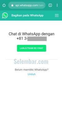 Membuat link ke chat dengan api whatsapp