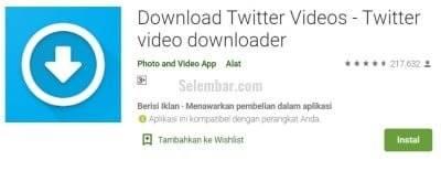 Cara Download Video di Twitter via Download Video Twitter