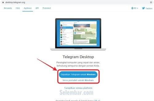 Mendownload aplikasi telegram desktop