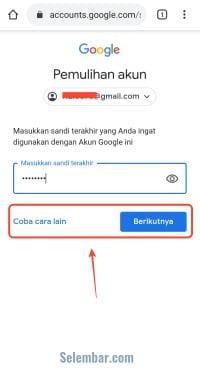 Mengatasi lupa sandi gmail