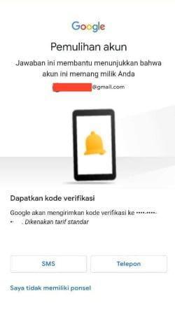 Mengirim kode verifikasi lewat sms