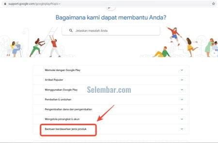 Buka situs bantuan google play