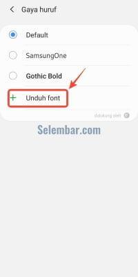 Tekan unduh font yang ada di font style